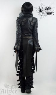 Unisex Punk Rave Mantel Jacke Visual Kei Rock Gothic Jacket lang