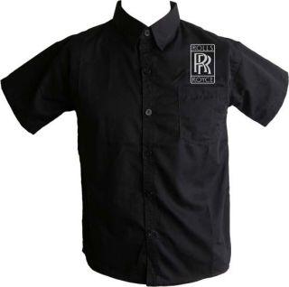 ROLLS ROYCE Hemd Logos Gestickt S XXL