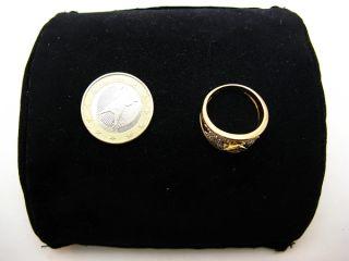 R669 750er 18kt Gelbgold Gold Ring mit vielen Diamanten Brillanten