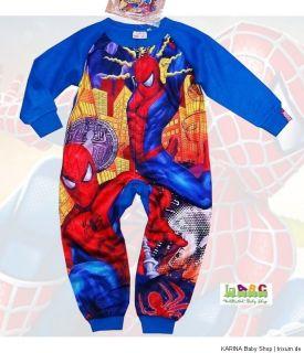 Super SPIDER MAN Overall Pyjama Schlafanzug Einteiler STICKERS GRATIS