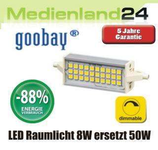 LED Raumlicht Lampe R7s 118 mm dimmbar 675 Lumen 8W ersetzt 50W 30425