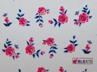 Nail Art Sticker Tattoo One Stroke BLE 675 pink