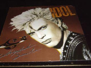 Billy Idol Whiplash Smile Chrysalis 207 689 630 D 1986 OIS Near mint