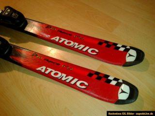 Atomic 6,22 Beta Race Carving Ski mit Bindung 120cm rot schwarz