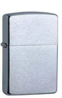 Zippo Lighter   Brushed Chrome. FREE ENGRAVING & Post.