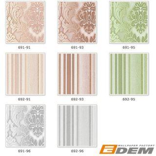 Tapeten Muster EDEM 691 Serie  Vliestapete Flock Vintage Barock