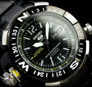 Seiko Men Gun Metal Atlas Automatic Diver Watch 200m Skz231 skz231k1