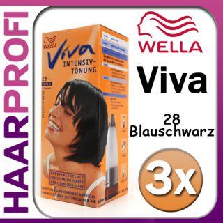 Wella Viva Intensiv Tönung 28 Blau schwarz ohne Ammoniak