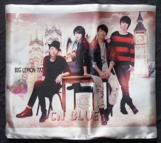 BLUE Photo Cushion Pillow Cover /Pillowcase Satin Q5