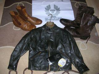 Black Prince Leather Jacket Lederjacke UVP 699 EUR NEU Boys