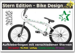 Sterne 3D Aufkleber Sticker für Fahrrad Bike Auto Universal  NEU