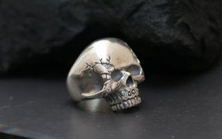 Gigant KEITH RICHARDS Silber 925 Ring Totenkopf Piraten Skull Rocker