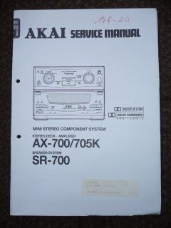 Service Manual für Akai AX 700/AX 705K/SR 700 ,ORIGINAL