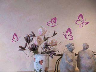 WANDTATTOO Wandsticker Schmetterling 4 Stück W697 Wohnzimmer