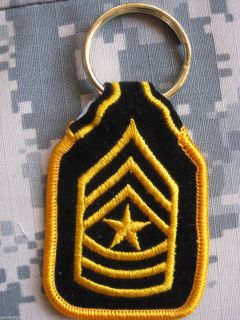 SCHLÜSSELANHÄNGER KEY CHAIN U.S. ARMY SERGEANT MAJOR E 9 RANK NEU