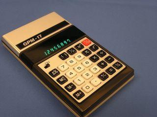 Taschenrechner GPM   17 GPM 17 Calculator 70er lesen
