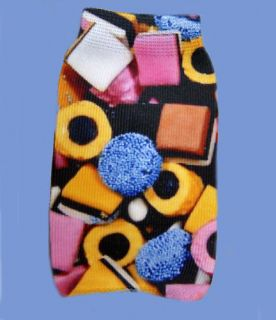 Licorice Allsorts design Mobile phone Sock, cover