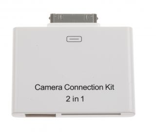 iPad 1G / 2G Camera Connection 2 in 1 Kit/ SD SDHC Card Reader + USB