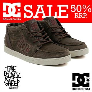 DC SHOE CO RELAX MID TOBACCO MENS SKATE SHOES/TRAINERS NEW SALE 50%