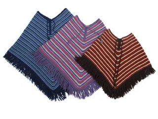 Rainbow poncho   100% Alpaca wool