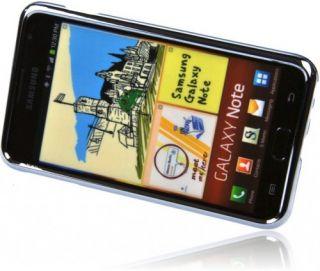 Premium Schutzhülle Tasche Samsung Galaxy Note Case mit Chromrahmen