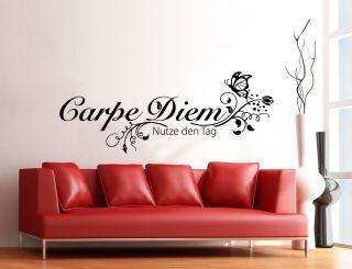 WANDTATTOO Carpe Diem W710 Schlafzimmer Wohnzimmer Wandsticker
