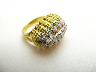 R728 750er 18kt Gelbgold Ring mit Brillanten Brillantring und