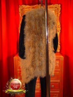 Damen Mantel Weste Jacke Pelz Federn Vogelstrauß Zucht Paolina