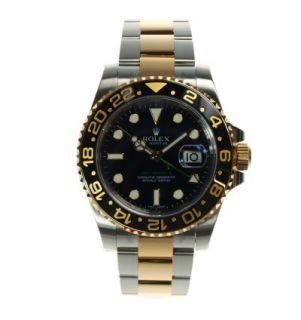 RATENKAUF ROLEX GMT MASTER II 116713LN STAHL GOLD KERA.