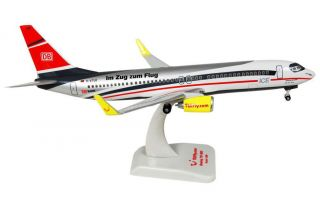 TUIfly DB Air One ICE Boeing 737 800 1:200 Hogan Wings Modell NEU B737