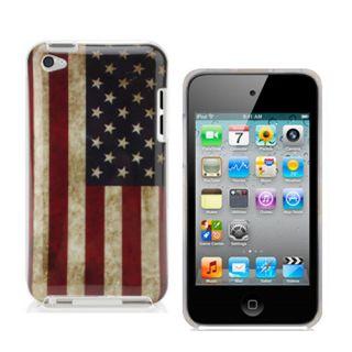 Ipod Touch 4 4G Retro Hülle Tasche USA Case Cover Etui Schale Flagge