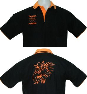 Scania Polo Shirt Gr. (XL) Motiv 1a gestickt