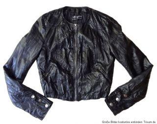 Trf by ZARA ♥ Trend Lederjacke Jacke ♥ schwarz ♥ Blogger ♥Gr