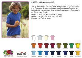 610330 Kids Valueweight T T Shirt Kinder Kindershirt Jungen