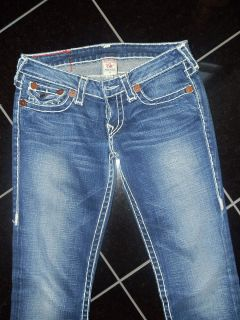 TRUE RELIGION Jeans helle Nähte Gr.27 JULIE SUPERT sitzt perfect w