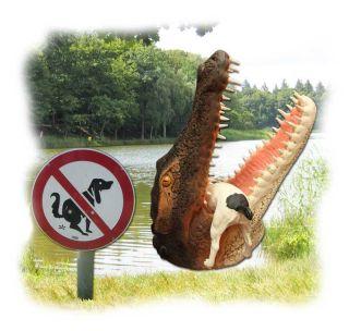 Leistenkrokodil Krokodil Kopf Deko lebensgroß 74cm #739