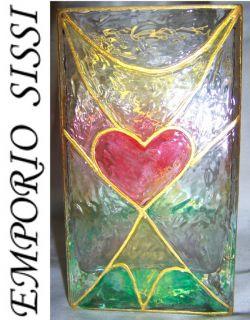TOP DESIGNER Effekt Vase Glas * ENGEL * UNIKAT * Schutzengel Tiffany