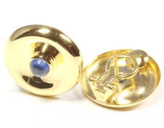 18kt 750 Goldohrstecker Gold Ohrclips Ohrstecker Saphir Safir
