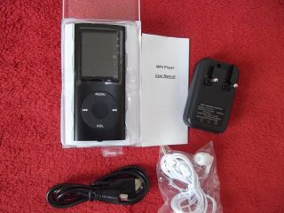 MP3 MP4 PHOTO VIDEO PLAYER RADIO E BOOK SCHWARZ 4GB