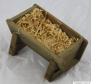 Alte Wiege Futtertrog aus Holz ohne Jesus Krippe Krippenfigur