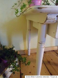 Frankreich alter Tisch Beistelltisch Shabby Chic Kindertisch Nähtisch
