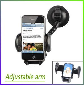 Adjustable Car Mount Holder For iPhone 4S 4G Samsung Galaxy S2 i9100