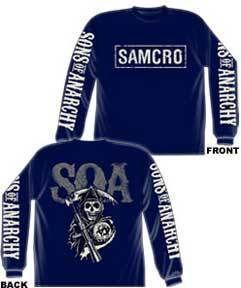 SONS OF ANARCHY Samcro Cracked Longsleeve M L XL XXL XXXL Shirt NEW