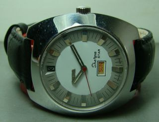 VINTAGE ENICAR SHERPA STAR AUTOMATIC DAY DATE SWISS MENS WRIST USED