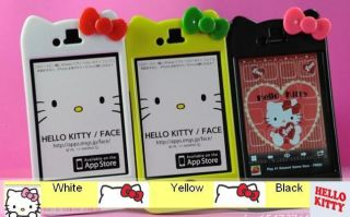 iPhone 4S 4G Sanrio Hello Kitty BLACK WHITE YELLOW GREEN Hard Case