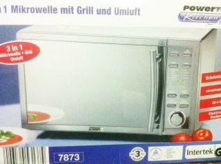 MIKROWELLE Edelstahl HEIssLUFT GRILL MWG 780 H 25 liter Microwave