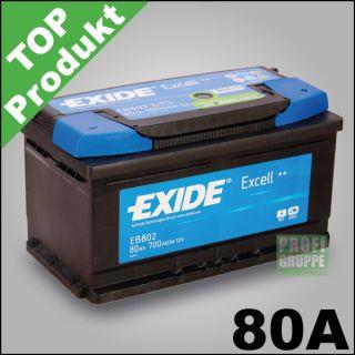 EXIDE EXCELL / 80Ah / Autobatterie / Starterbatterie / Batterie