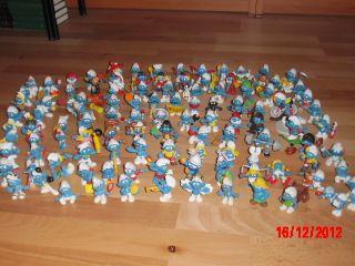 112 Sonder Schluempfe Schlumpf Sammlung Smurf Figuren Schleich Peyo