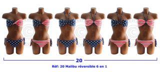 Maillot de bain Drapeau Americain Bikini USA FLAG 34 36 38 40 42