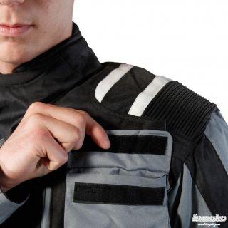 Cordura Jacke Motorradjacke Atmungsaktiv Schwa/Grau